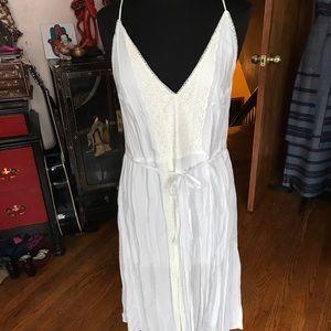 Victoria's Secret white lace midi tank dress